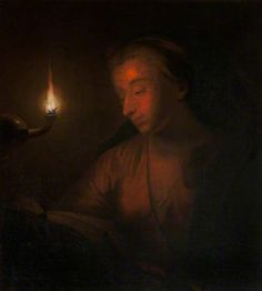 A Woman Reading by Lamplight (called 'The Penitent Magdalen') by Godfried Schalcken