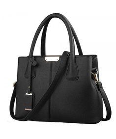 8402fbd59926 Women Classy Satchel Handbags and Purse Tote Top-handle PU Leather Shoulder  Bag - Black - CZ1895MOGH7. Cheap bag high ...