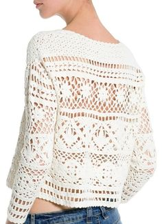 Perfect crochet pattern for making a pullover. Comes with detailed do-it-yourself PDF instructions and charts.