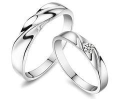 water wave diamond couple's matching