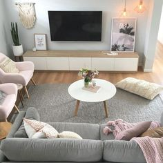Scandi Boho living room by Sapphire Living Interiors ( on Insta. - Scandi Boho living room by Sapphire Living Interiors ( on Insta… , - Ikea Living Room, Boho Living Room, Home And Living, Living Room Furniture, Boho Room, Coastal Living, Modern Living, Coastal Style, Wooden Furniture