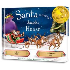 Santa is Coming to My House Personalized Book - Personalized Books - Books | Tv's Toy Box