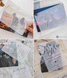 wedding invitation with photo collage