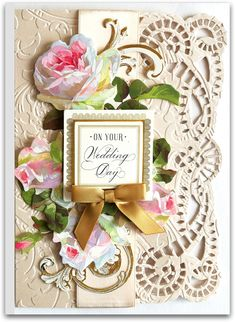 Fancy Edge Dies - 6 pc - inspired by antique Valentines Wedding Cards Handmade, Handmade Birthday Cards, Greeting Cards Handmade, Anna Griffin Cards, Wedding Anniversary Cards, Halloween Cards, Making Ideas, Cardmaking, Christmas Cards