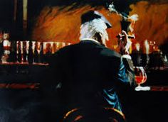 """Aldo Luongo, """"Smoke Bar II"""" the Hawk - Luongo artwork available at Lahaina Galleries. visit: www.lahainagalleries.com, for shows & to see artwork first, join our FB ohana: www.facebook.com/lahainagalleriesFB"""