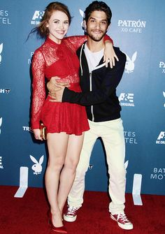 """Holland Roden and Tyler Posey attend the Playboy and A&E """"Bates Motel"""" Event During Comic-Con"""