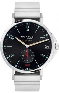 Nomos Glashutte Watch Tangente Sport Neomatik 42 Date Marine Black 581 Luxury Watches, Rolex Watches, Sport Watches, Watches For Men, Watch Companies, Metal Bracelets, Stainless Steel Bracelet, Sports, Gnomes