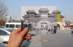 Glass decorated archway of God way Street, chaowai Avenue, Beijing,China - Built in 1607. #Beijing #China