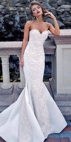 30 Strapless Wedding Dresses Which You Need To See ❤ See more: http://www.weddingforward.com/strapless-wedding-dresses/ #wedding