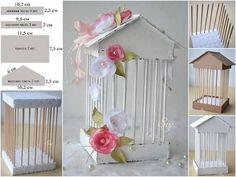 como hacer una jaula de cartón para centro de mesa
