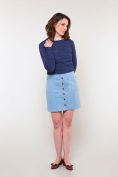 Leonora skirt sewing pattern from Seamwork