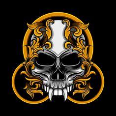 Skull circle floral T-shirt template vector Skull Illustration, Illustration Sketches, Floral Illustrations, Character Illustration, Psy Art, Samurai Art, Airbrush Art, Skull Art, Face Art