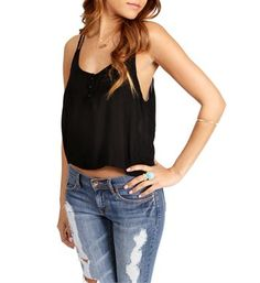 sofiesof's save of Black Cropped Top on Wanelo