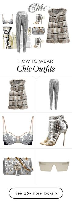 """""""Chic She"""" by naughty-1 on Polyvore featuring Vionnet, Jimmy Choo, Gucci, RetroSuperFuture and Calypso St. Barth"""