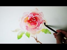 How to Paint a Cherry Tree in Watercolor - Splatter Painting Trees - Paint a Tree - Sakura - YouTube