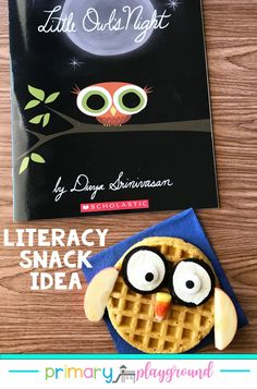 Little Owls Night is a perfect book to incorporate into learning about nocturnal animals. The pictures are wonderful and show many of the nocturnal animals, along with some diurnal animals sleeping which make for a fantastic discussion starter to compare the two. #booksnack #literacysnack #kindergarten #preschool
