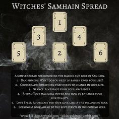 Witches' Samhain Spread tarot