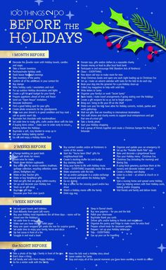 100 Things 2 Do before the Holidays, 100 Things to Do before Christmas, Christmas checklist, Christmas preparations, Holiday checklist