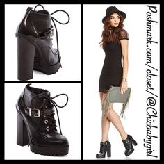 """[SAM EDELMAN] PLATFORM PUMP Size--10 With Tags $130 Retail + Tax   Step up your chic look with these booties   *Leather upper *Lace-Up front  *Buckled strap *Stacked heel 5"""" *Shaft 3"""" *Runs True To Size *Sam Edelman Circus   2+ BUNDLE=SAVE  ‼️NO TRADES--NO HOLDS--NO MODELING   Brand Name Items Authentic   ✈️ Ship Same Day--Purchase By 2PM PST    USE BLUE OFFER BUTTON TO NEGOTIATE   ✔️ Ask Questions Not Answered In Description--Want You To Be Happy Sam Edelman Shoes Ankle Boots & Booties"""