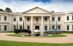 Explore our Dawn Hill, Wentworth Estate project to understand why Ascot Design is a Berkshire based architect with a global reputation for high quality work. Farmhouse Architecture, Neoclassical Architecture, English Architecture, Villa Design, House Design, Dream Mansion, Residential Architect, Mansions Homes, Mega Mansions