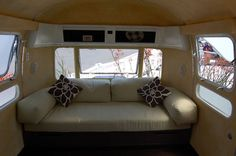 cool airstream remodels | American Clay earth plaster walls ; Bamboo counters and cabinets; Cork ...