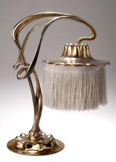 Orivit Art Nouveau table lamp, 1904, signed, 36 cm H.  |  SOLD $3,800 Germany 2004