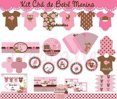 Kit Chá de Bebê Menina | Delicatte Artes e Mimos Personalizados | 2CFDD2 - Elo7