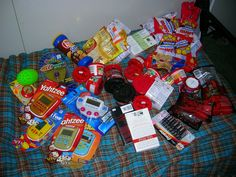 Military care package ideas - and more tips on keeping contents safe - wrap it all in plastic bag to keep weather safe.