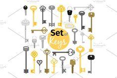 Antique and modern keys by ssstocker on @creativemarket