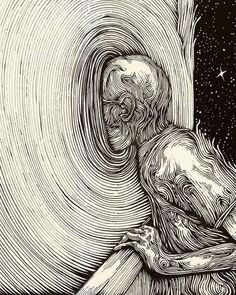 Seres Cósmicos: Photo : Source: Illustration by Muhamad Ikbal Arifin Suradi Ink on paper Psychedelic Art, Art Sketches, Art Drawings, Weird Drawings, Drawing Designs, Drawing Art, Arte Horror, Wow Art, Surreal Art