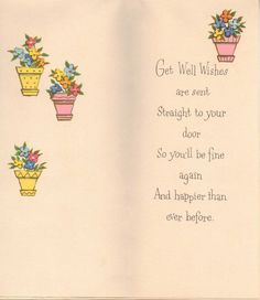 Vintage Get Well card  NOS with Envelope 1950s by DarisTreasures, $3.00