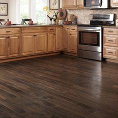 Williamsburg Wire Brushed Granite Oak solid hardwood flooring.