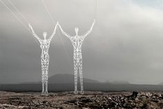 These power lines in Iceland have unique pylons that have been specifically designed for different terrains. The design by Chol+Shine is scheduled for construction in 2017.