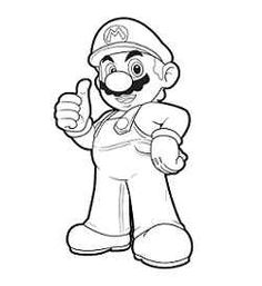 Printable Super Mario 3d Land Bowser Characters Coloring