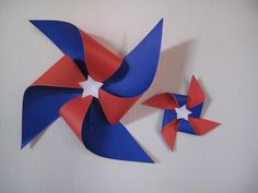 Chilean Flag, Ideas Para Fiestas, Pinwheels, Projects For Kids, Paper Flowers, 4th Of July, Activities For Kids, Lily, Creative