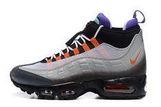online store 87a76 e69ee 2018 Factory Authentic Nike Air Max 95 Boot Black Neon Green Grey 806809  078 Sneaker Air