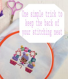 One simple trick to help keep the back of your cross stitch neat – What Saysie Makes Cross Stitching, Cross Stitch Embroidery, Hand Embroidery, Cross Stitch Patterns, Hardanger Embroidery, Loom Patterns, Embroidery Ideas, Pixel Art Geek, Cross Stitch Tutorial