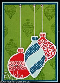 Beautiful Ornament Keepsakes Christmas Card by Stampin' Up! Demonstrator Bekka Prideaux