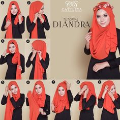 This is an absolutely cute hijab style for summer, especially with the flowers crown and mostly with the hijab color, it looks so beautiful and simple to pair with maxi dresses and skirts. To get this look follow the steps…