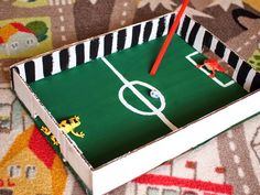 Over 20 fab football crafts or soccer crafts for kids. Celebrate the beautiful game with these fun and easy to prepare crafts and activities for children Soccer Games For Kids, Physical Activities For Kids, Preschool Games, Craft Activities, Soccer Crafts, Football Crafts, Cardboard Play, Cardboard Box Crafts, Summer Camp Art