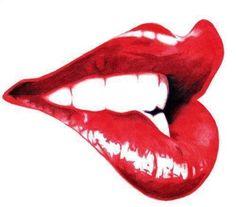 Bold lip biting