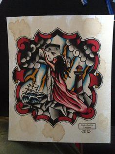 By Pedro Santos. Vintage Daggers Tattoo. Portugal