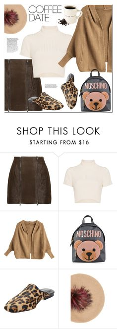 """""""Buzz-Worthy: Coffee Date"""" by ansev ❤ liked on Polyvore featuring Melissa Odabash, Staud, Moschino, Forever 21, CoffeeDate and statementbags"""