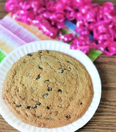 vegan cookie cake  This cookie cake is ideal for any celebration all year round! You don't need to swing by the grocery store, you can create and decorate your own dessert copycat classic courtesy of Chocolate-Covered Katie. Round up your baking ingredients, chocolate chips and brown sugar. Applesauce is added to make it a gluten free delight!