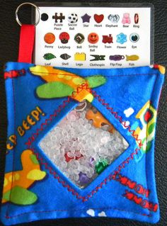 I Spy Bag  Mini with SEWN Word List and by TheCraftingCorner, $10.00