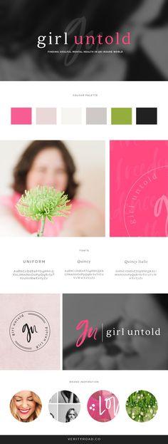 Brand & Web Design for Girl Untold, Strong, Feminine Branding — Verity Road