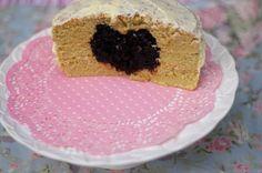 Secret heart cake. #vegan