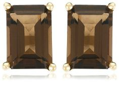 14k Yellow Gold Emerald-Cut Smoky-Quartz Studs  $57  Amazon Curated Collection,http://www.amazon.com/dp/B000WJLMCO/ref=cm_sw_r_pi_dp_oARKrbFB951F41BC