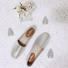 Host Pick  04/25 ✨ Sam Edelman • Silver Flats 〰 Brand New ✨ Sam Edelman Shoes Espadrilles