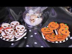 Recette Halloween sablés squelette et citrouille - YouTube